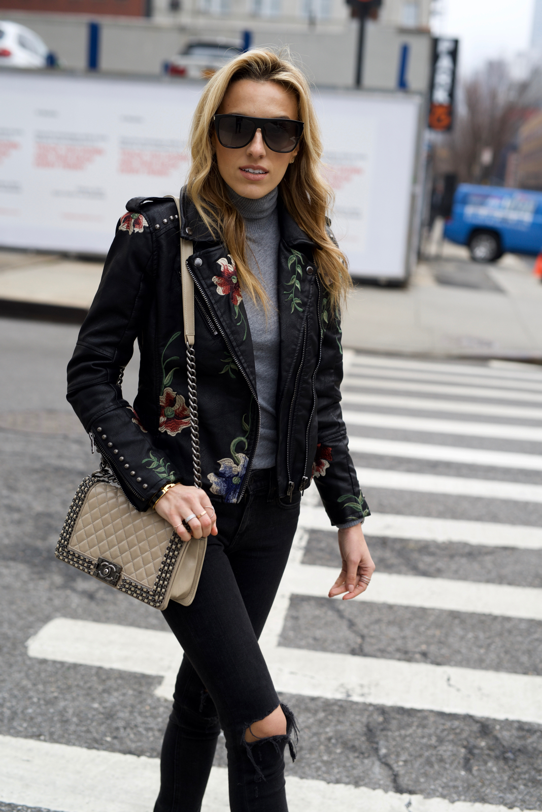 Must-Have Floral Leather Jacket
