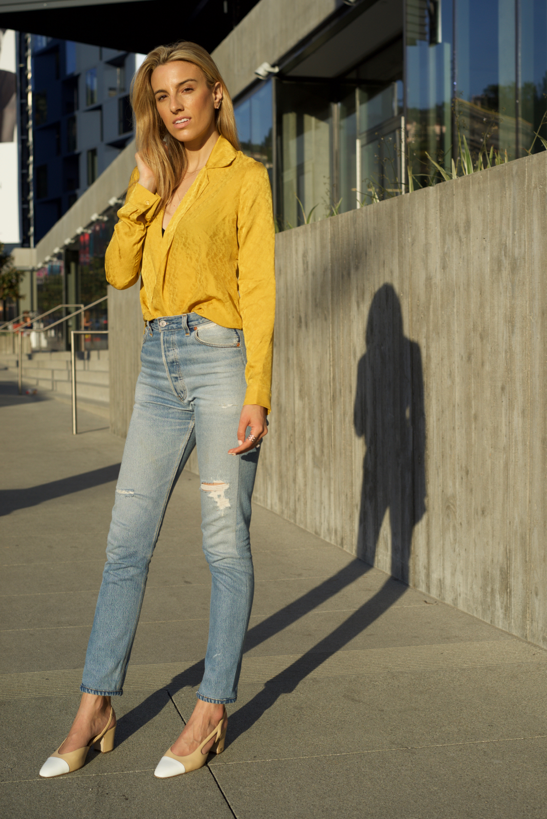 California, Travel, Sunset, Yellow, Spring Trends, Reformation, Golden hour, Chanel Shoes