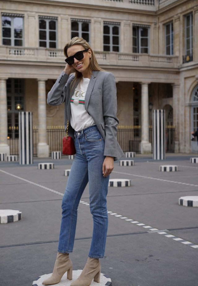 Gucci Logo tee, Logo tee trend, Paris Fashion Week, Paris Fashion Week. Paris Travel Guide, Stuart Weitzman