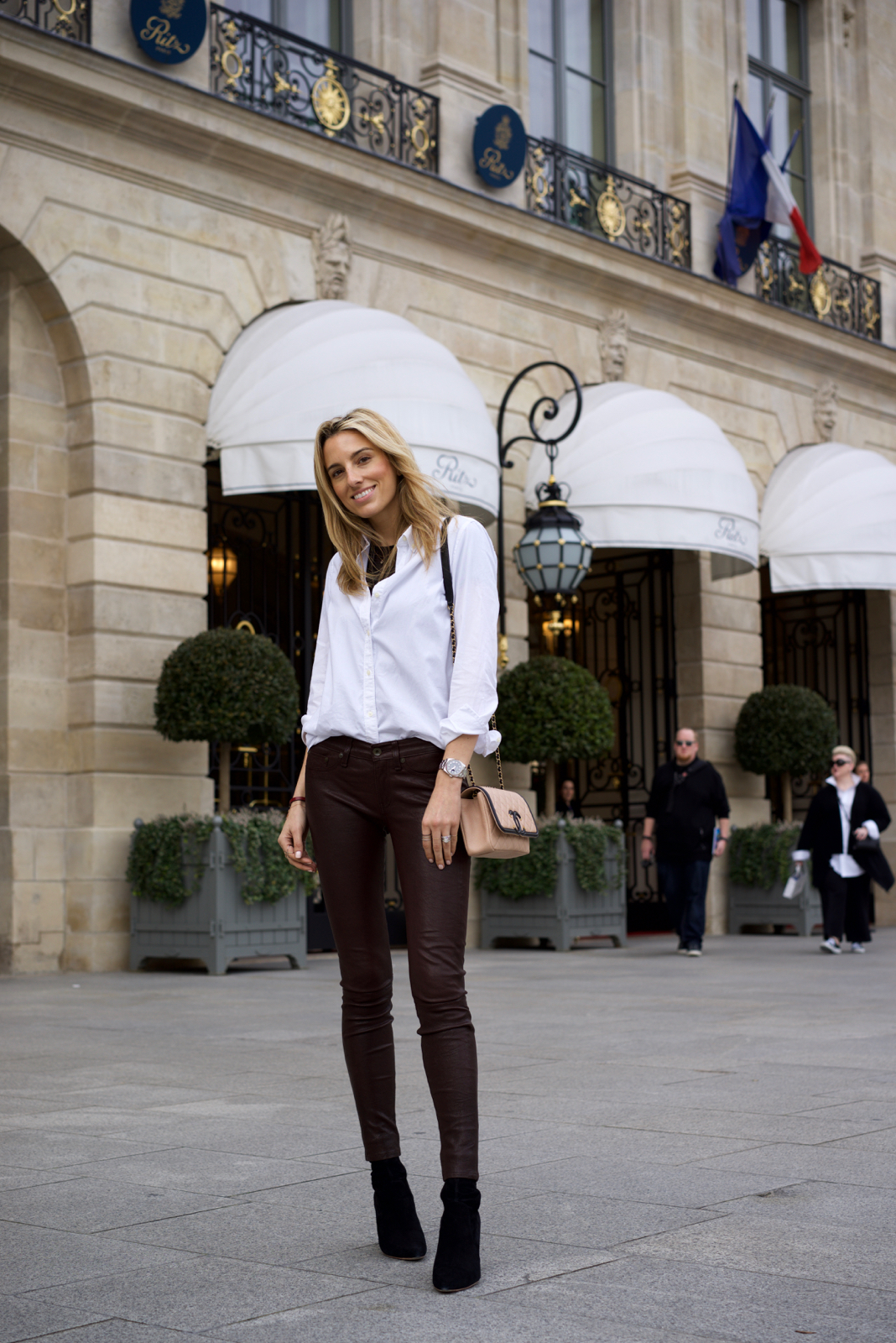 Paris fashion week, Street Style Paris, Ritz Paris, Travel, Travel guide, Leather Pants