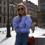 Paris Fashion Week – Striped Poplin Top & Chanel Accessories