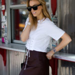 Best Tacos in NYC | Corset Tee & Leather Skirt
