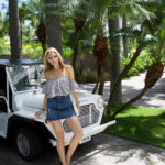 How to Style a Denim Mini skirt on Vacation | St. Barths