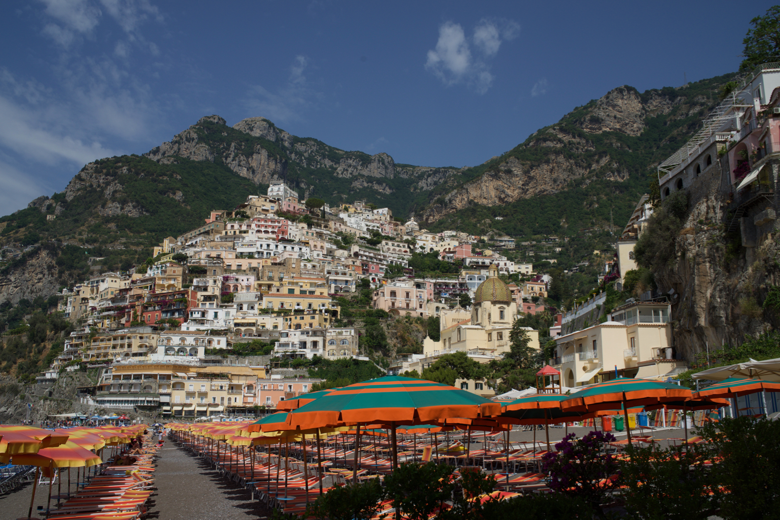 Positano Beach club, Colorful Positano, Must see in Italy, What to do in Amalfi coast and Positano