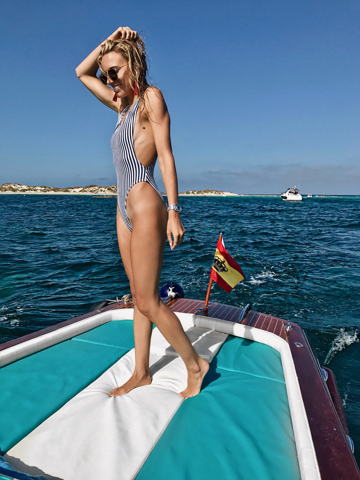 Norma Kamali swimsuit, Ibiza, Spain, Travel
