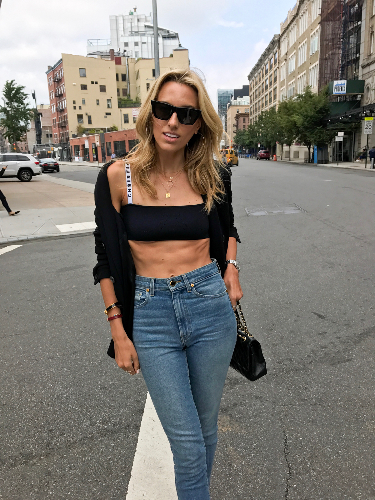 NYFW, New York Fashion Week Street Style, SS18, Fashion Week, How to get abs, Health model, Abs workout