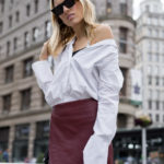 How To Style A Burgundy Skirt For Fall