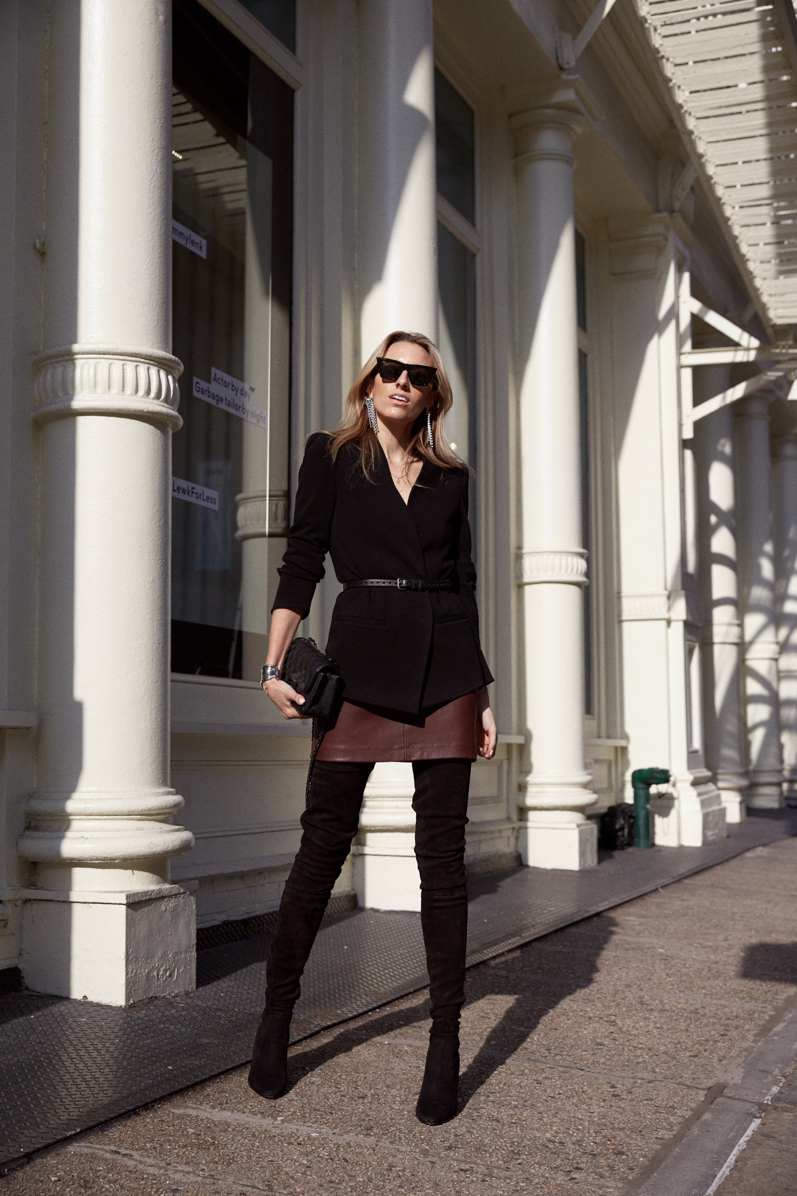 Tamara Mellon, Holiday Outfit, What to Wear for the Holidays, Boots, Leather, Celine
